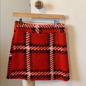 Topshop chunky plaid mini skirt